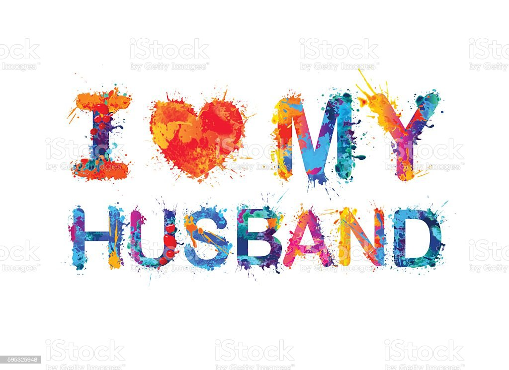 I Love My Husband Stockvectorkunst En Meer Beelden Van Achtergrond
