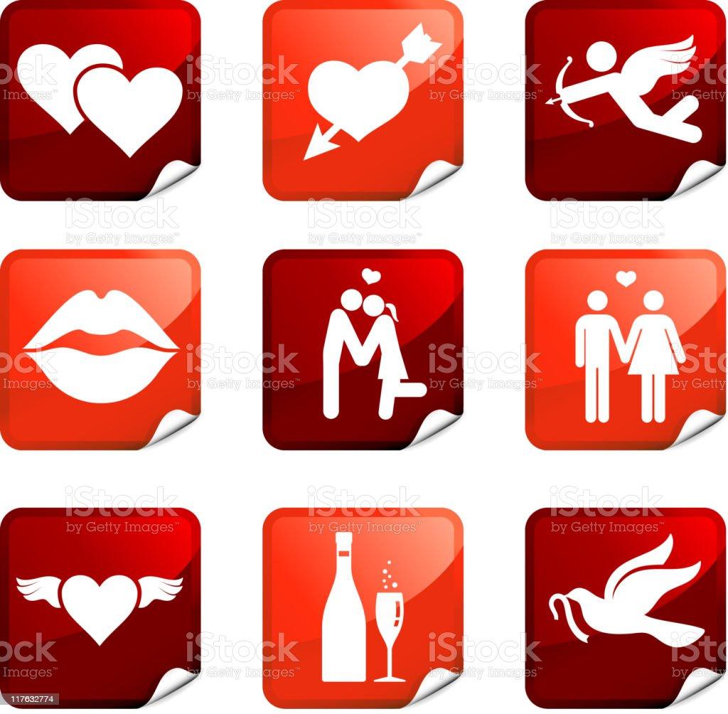 love nine royalty free vector icon set royalty-free stock vector art