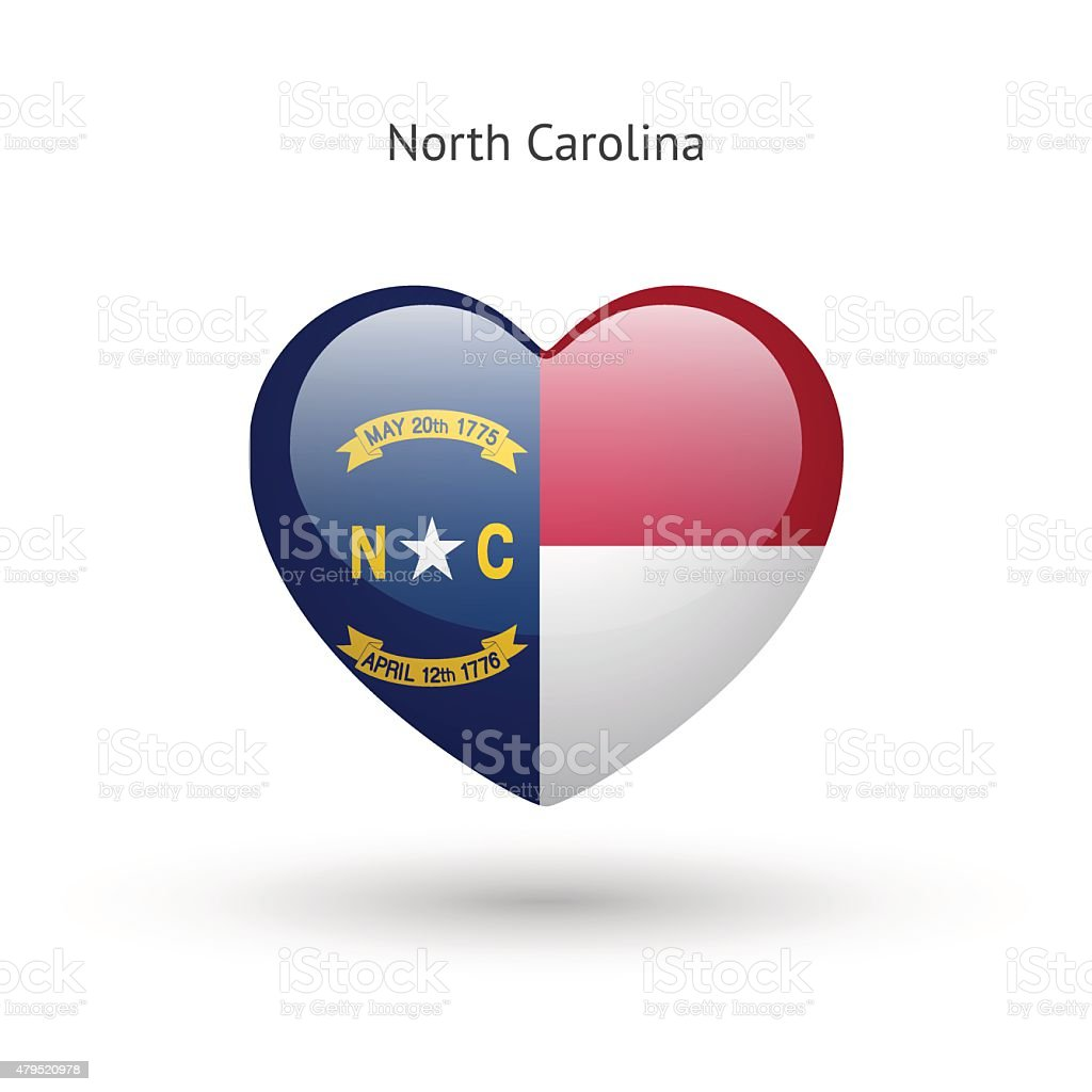 Love north carolina state symbol heart flag icon stock vector art love north carolina state symbol heart flag icon royalty free love north carolina state buycottarizona