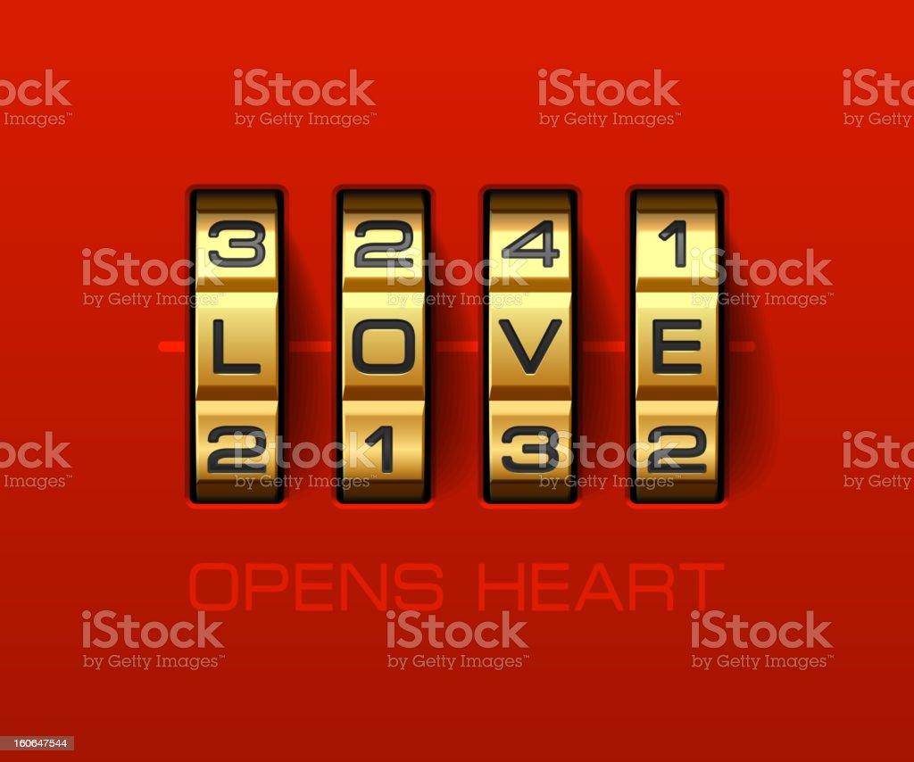 Love Opens Heart vector art illustration