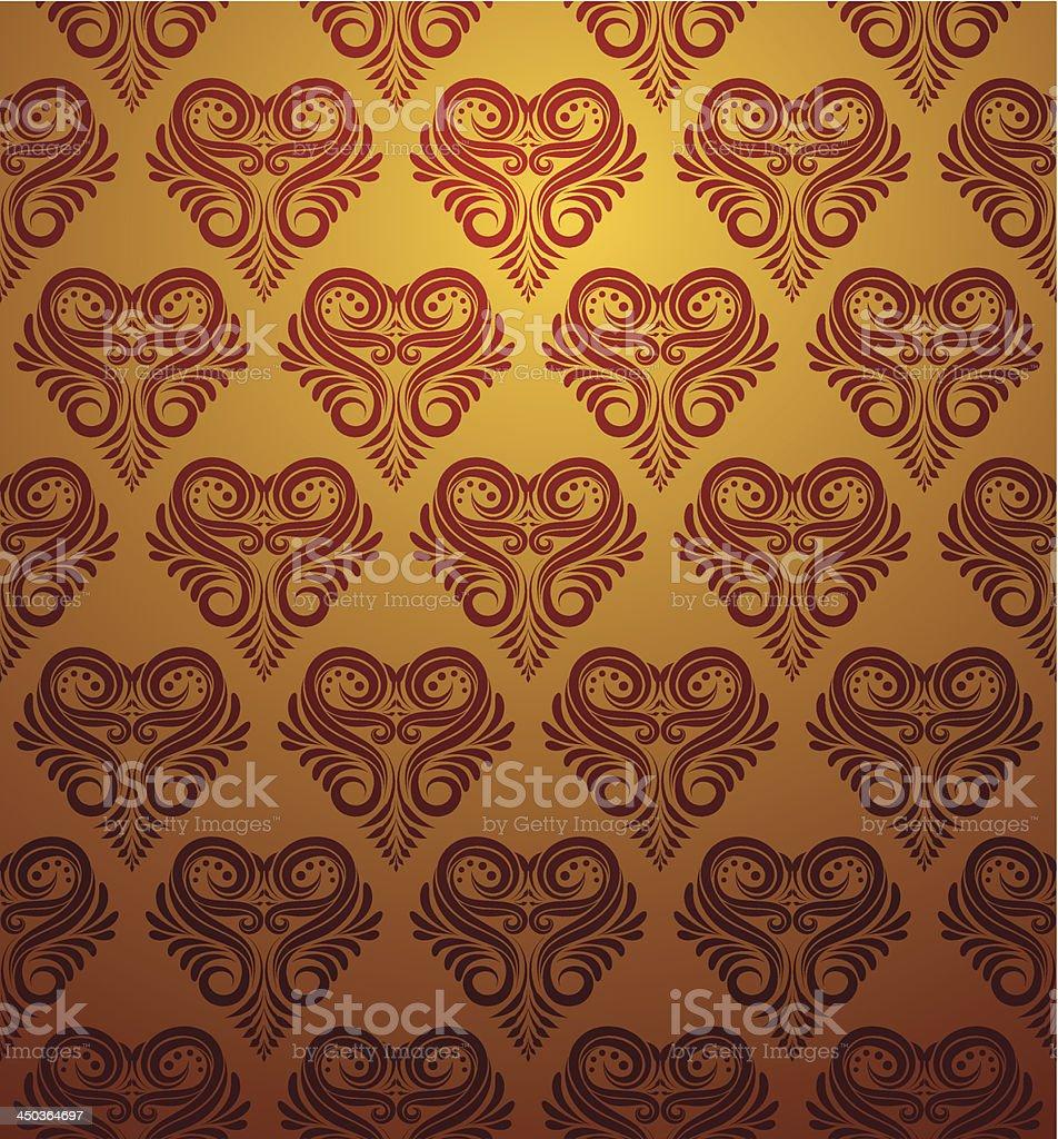 Love Ornamental Pattern royalty-free stock vector art