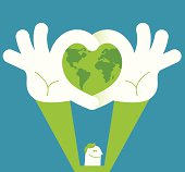 Vector illustration - Love our earth
