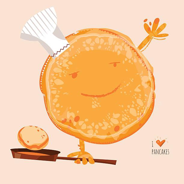 I love Pancakes. Happy Pancake Day! I love Pancakes. Happy Pancake Day! Vector illustration pancake stock illustrations