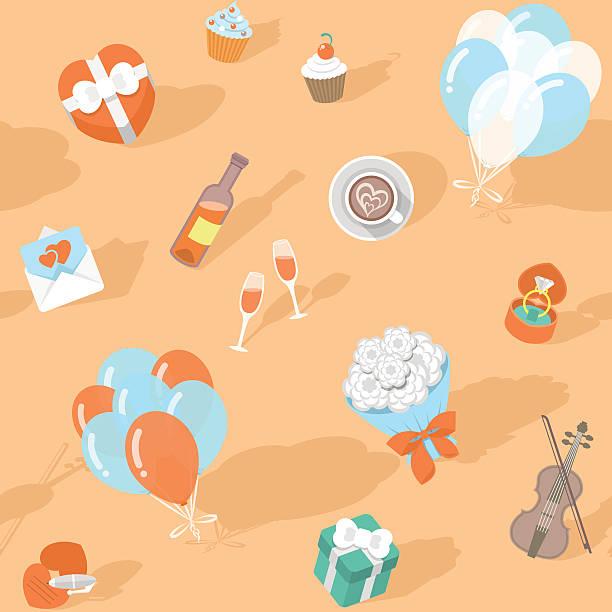 Love Pattern vector art illustration