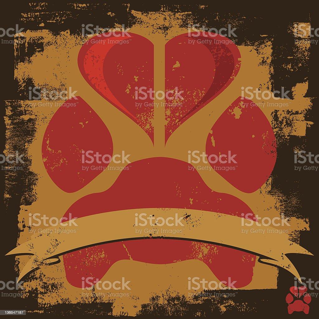 love paw print insignia royalty-free stock vector art