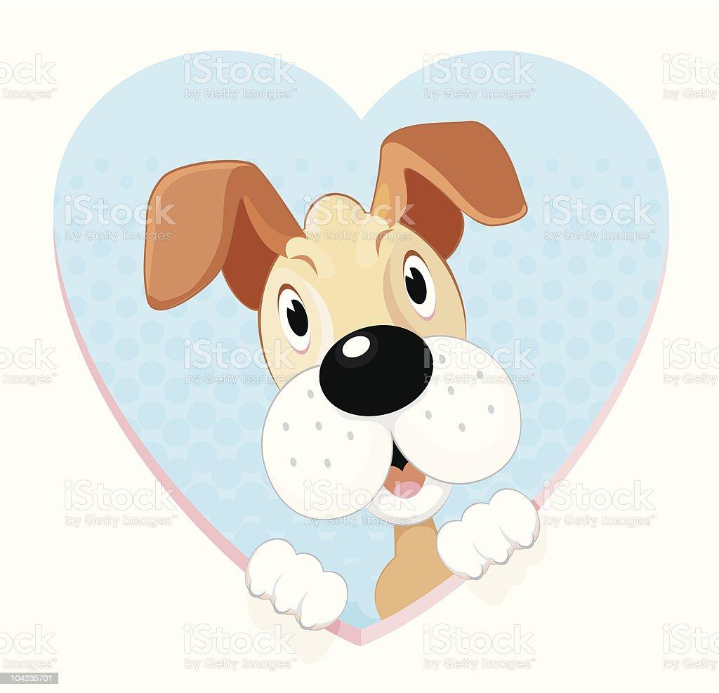 Love Pet Cartoon vector art illustration