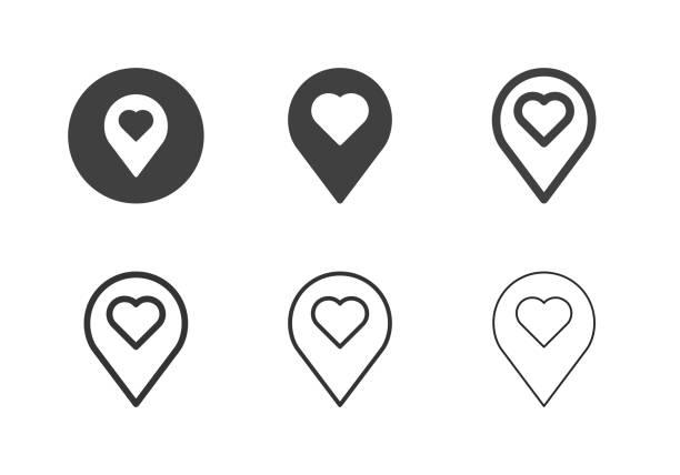 Love Position Icons - Multi Series vector art illustration