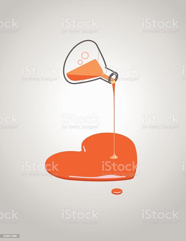 love potion vector art illustration