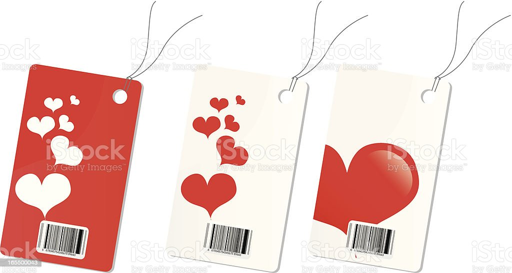 Love price tag royalty-free stock vector art