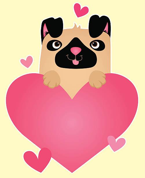 Love Pugs! vector art illustration