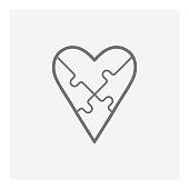 Love Puzzle icon, vector illustration. EPS 10.
