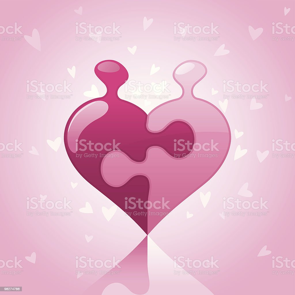 Love Puzzle royalty-free love puzzle stock vector art & more images of color image