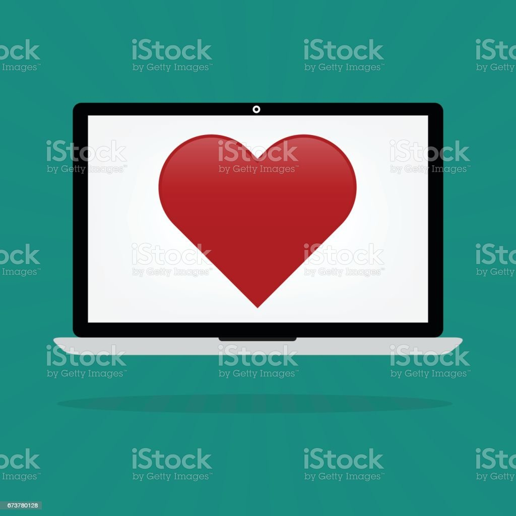 L'amour des coeurs rouges sur concept datant en ligne ordinateur portable-ordinateur-internet. lamour des coeurs rouges sur concept datant en ligne ordinateur portableordinateurinternet – cliparts vectoriels et plus d'images de carré - composition libre de droits