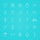 Love Romance Line Icons