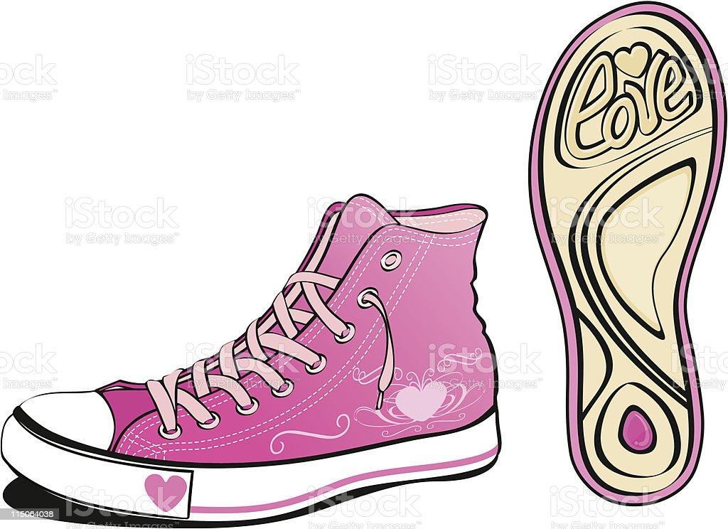 love shoe vector art illustration