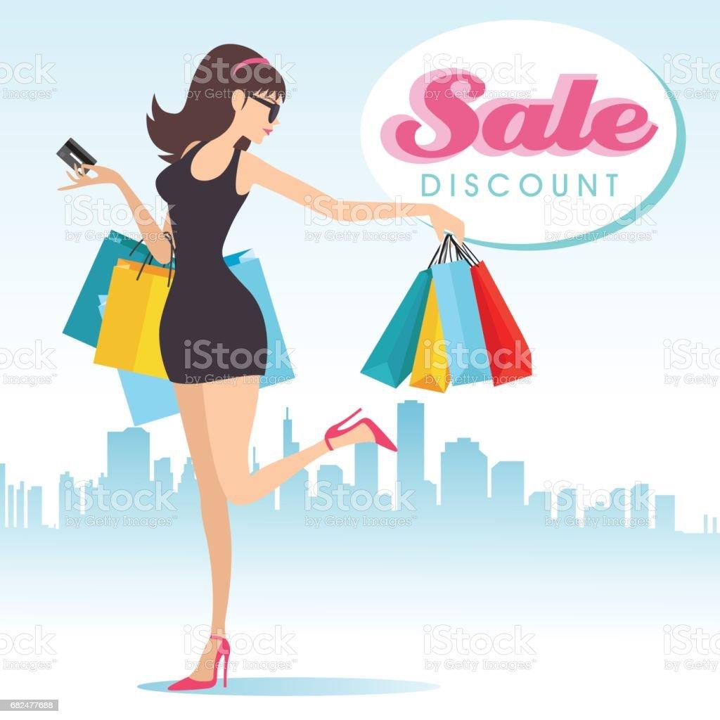 Ich liebe Einkaufen Lizenzfreies ich liebe einkaufen stock vektor art und mehr bilder von ausverkauf