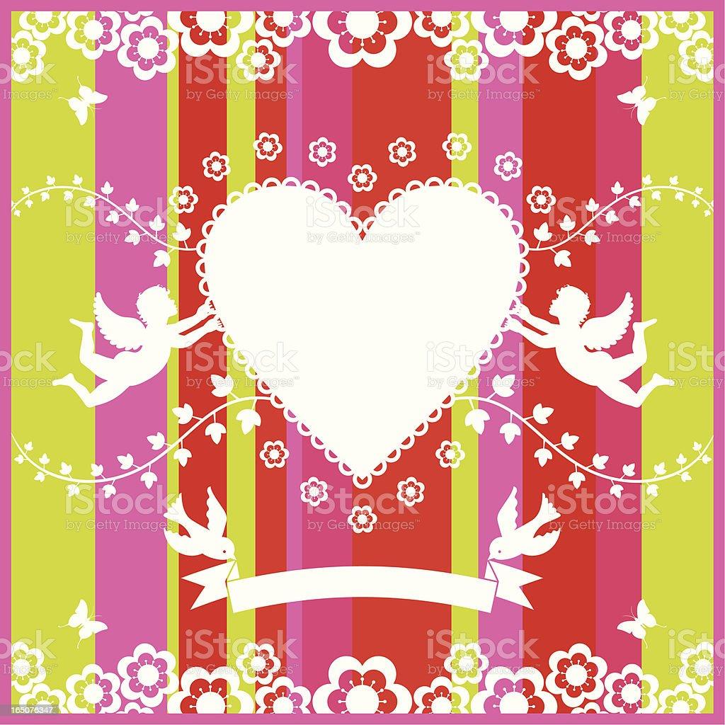 Love silhouette royalty-free stock vector art