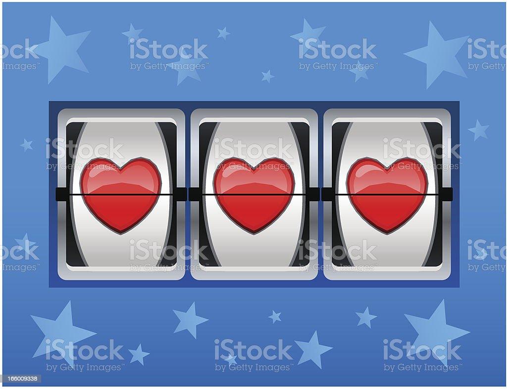 Love Slot Machine royalty-free stock vector art