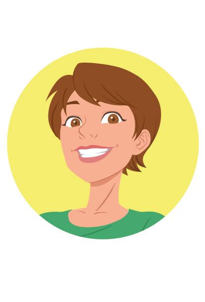 I love soccer Rosto de mulher sorrindo confiante futebol stock illustrations