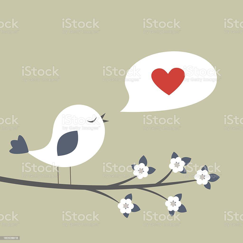 Love song vector art illustration
