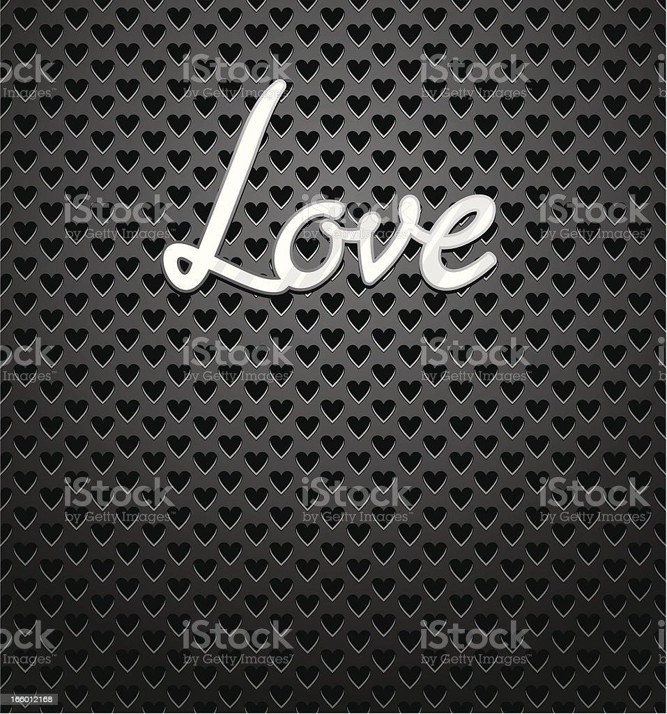 Love Speaker Grill royalty-free stock vector art