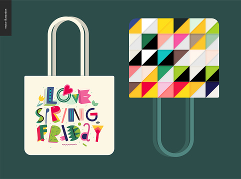 Love spring friday - lettering composition