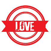 Love Stamp Sticker