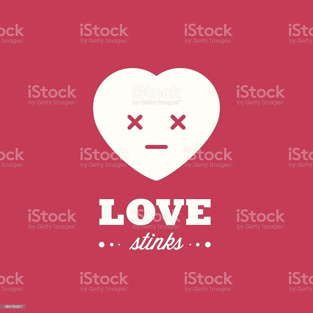 Love stinks vector art illustration