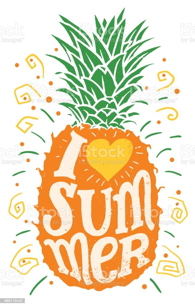 I love summer hand drawing typography illustration ilustración de i love summer hand drawing typography illustration y más banco de imágenes de a la moda libre de derechos
