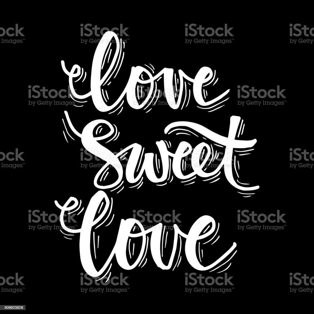 Amour Amour Douce Main Lettrage Citation Vecteurs Libres De