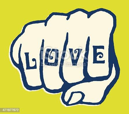 istock Love Tattoo on Knuckles 471977672