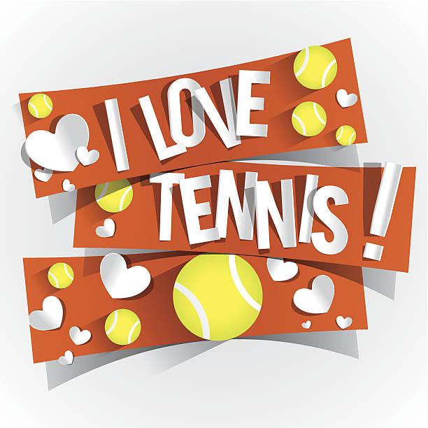 ich liebe tennis - wimbledon stock-grafiken, -clipart, -cartoons und -symbole