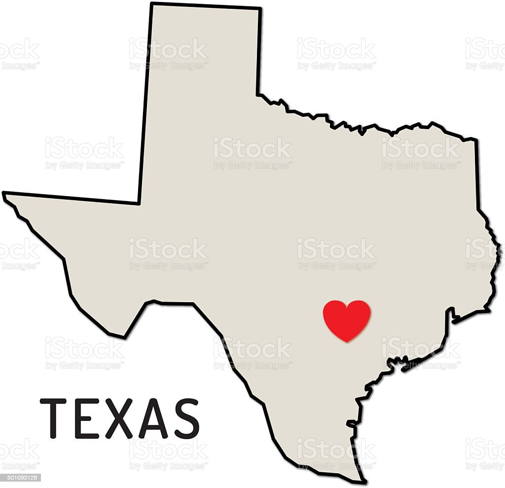 royalty free love texas state clip art vector images rh istockphoto com state of texas logo clip art state of texas clip art vector