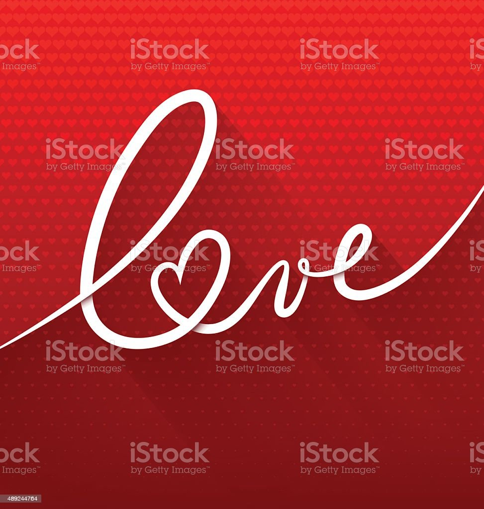 Love text vector art illustration