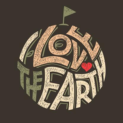 I Love the Earth t-shirt design