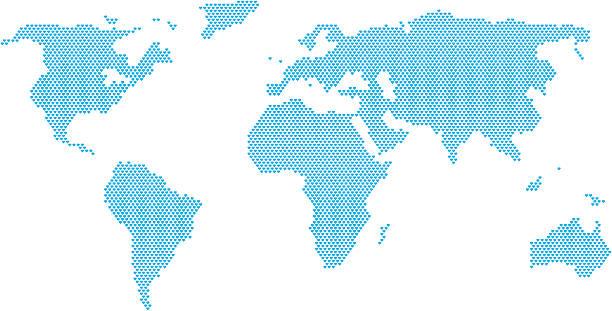 Love the world map vector art illustration