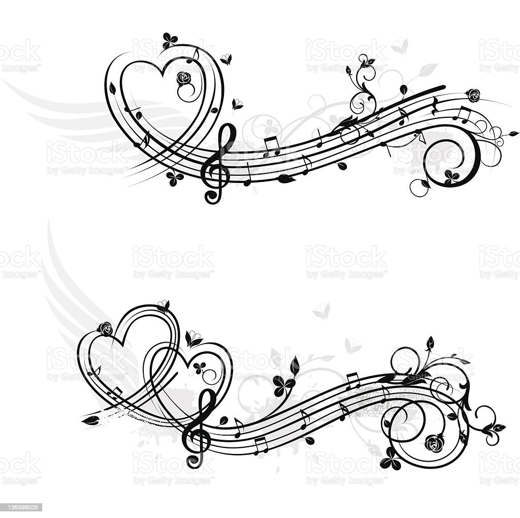 music tattoo tattoos vector theme elements musical symbol tribal notes designs drawings drawing note element symbols each rose tatoo layer