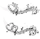 Love theme music design elements