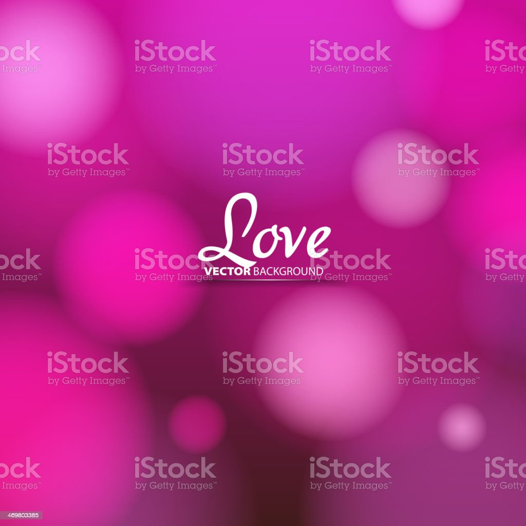 Love theme, Valentine blurry background, Vector image royalty-free stock vector art