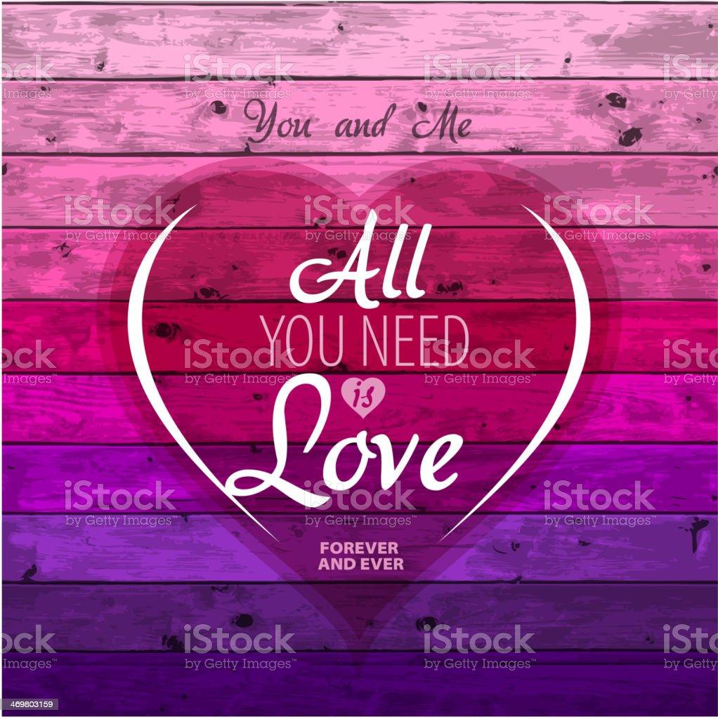 Love theme, Valentine Romantic card vector art illustration