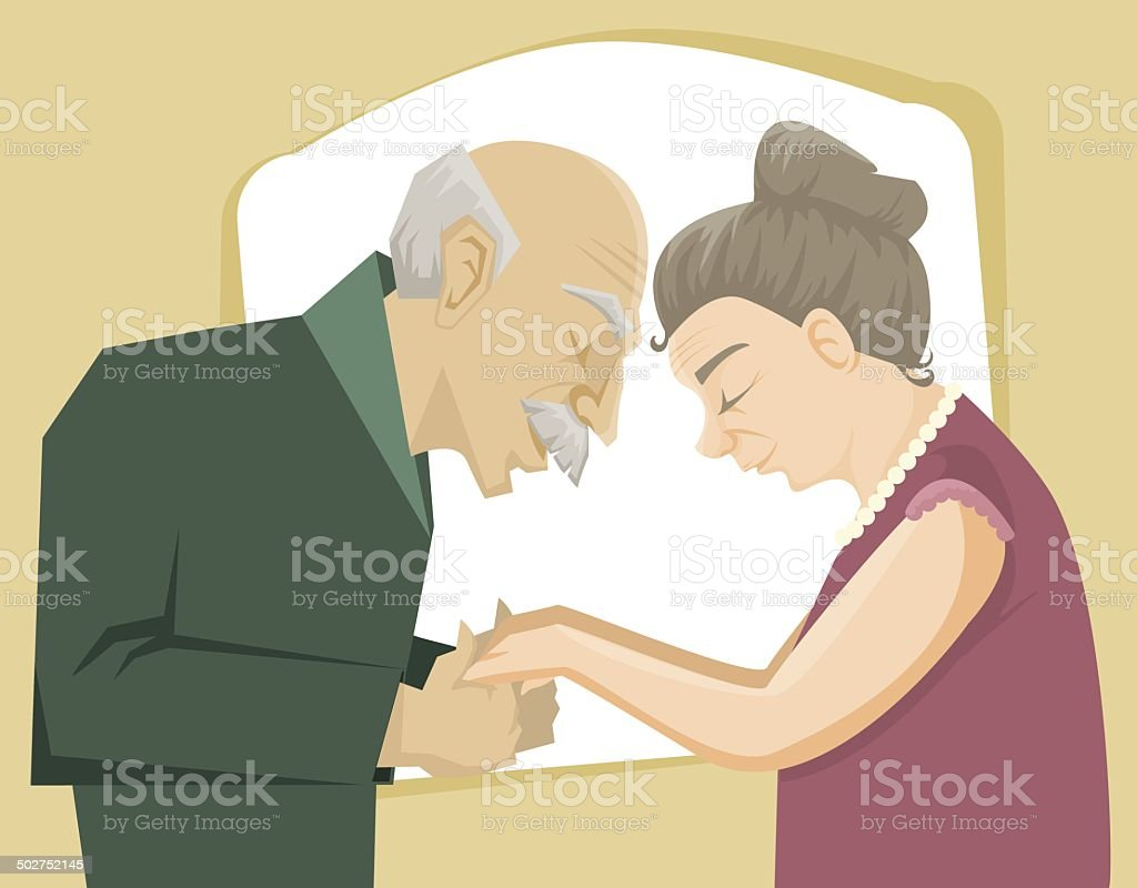 Love through the time royalty-free stock vector art