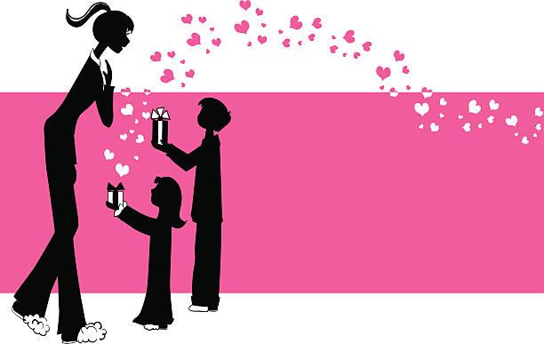 love to mom - heather mcgrath stock illustrations