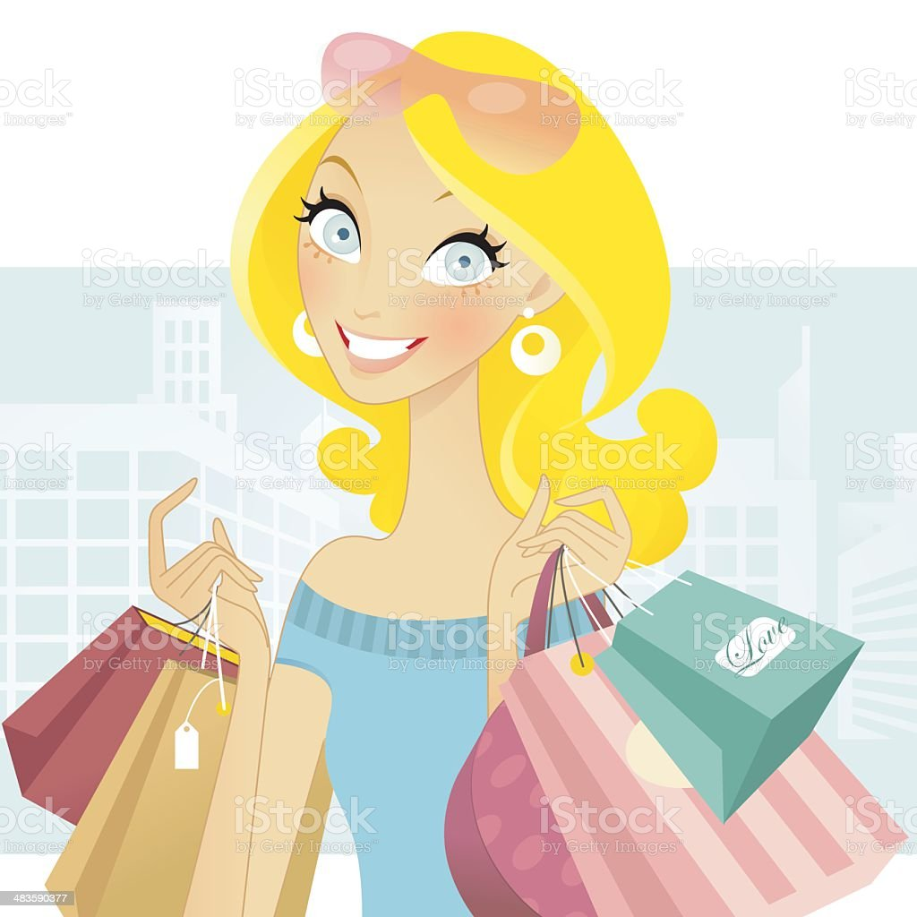 Love to Shop royalty-free stock vector art