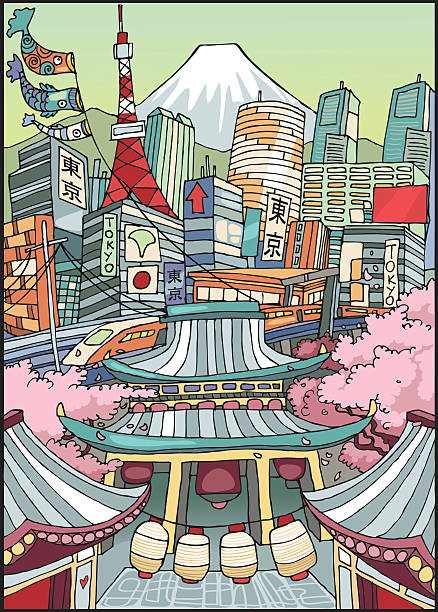 love tokyo - tokyo stock illustrations, clip art, cartoons, & icons