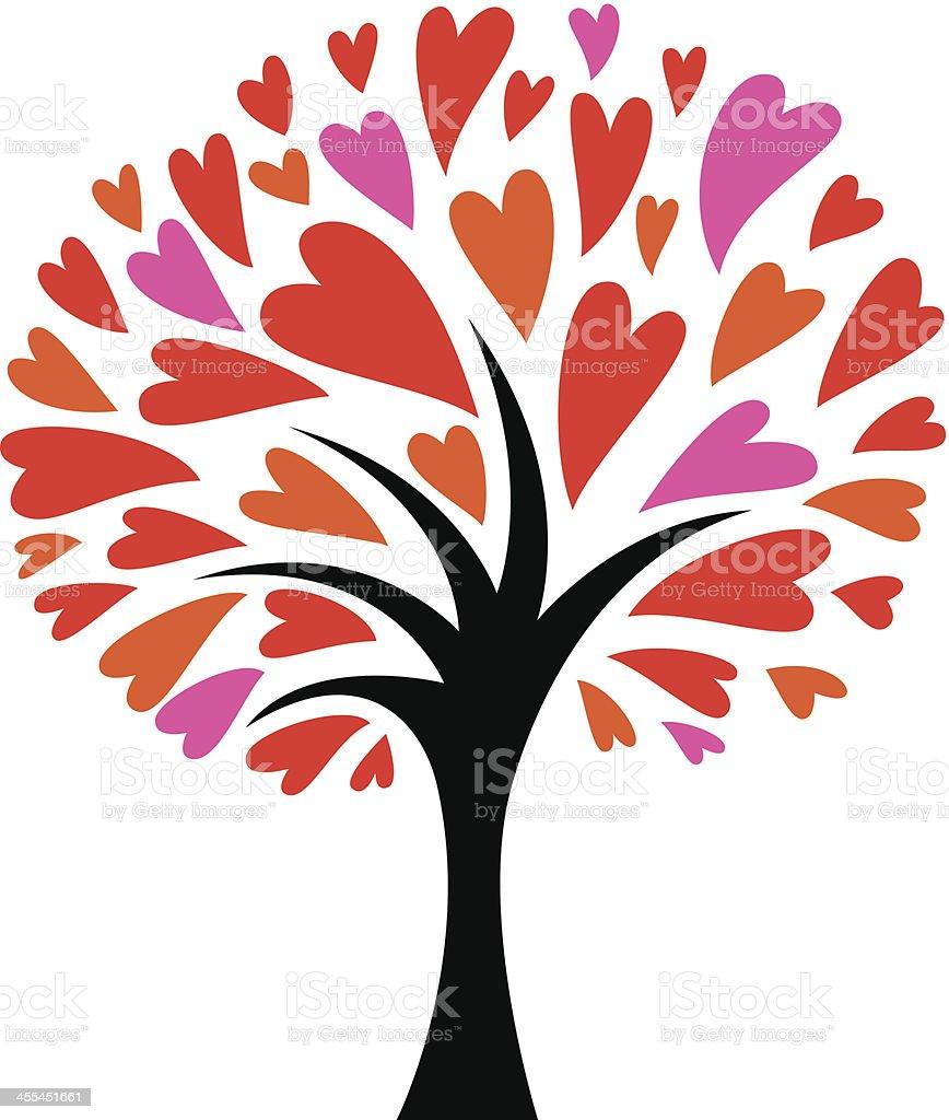 Love tree royalty-free stock vector art