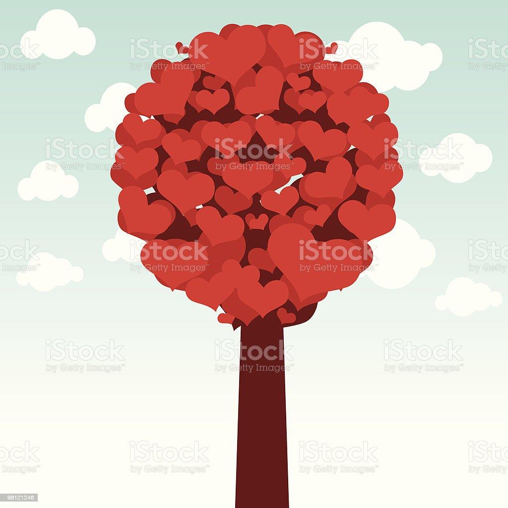 Amore albero amore albero - immagini vettoriali stock e altre immagini di albero royalty-free