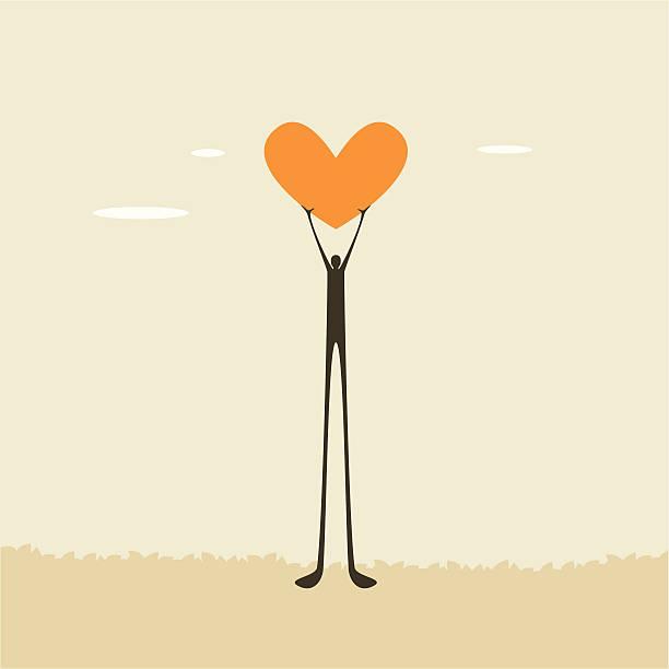 Love up! vector art illustration