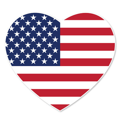 Download Love Usa Flag Stock Illustration - Download Image Now - iStock