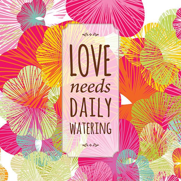 love valentine floral text banner background vector art illustration