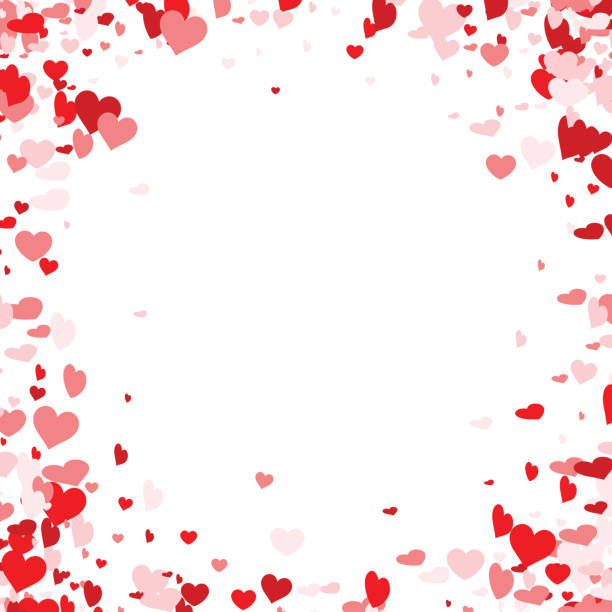 Love valentine's background with hearts. – Vektorgrafik
